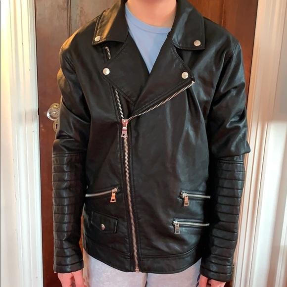 Forever 21 Other - Forever 21 Men Vegan Leather Motorcycle Jacket S
